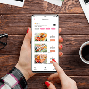 placing food order through smartphones