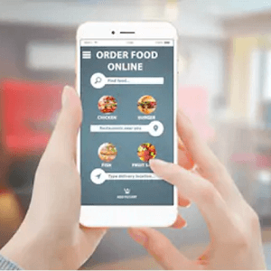online food ordering with smartphone